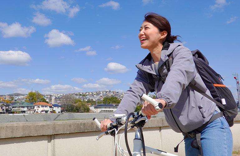 自転車で運動イメージ
