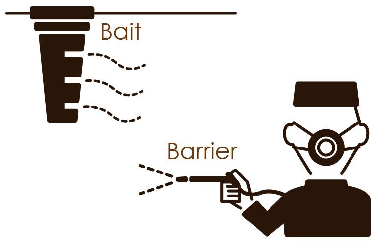 バリア工法とベイト工法の違い